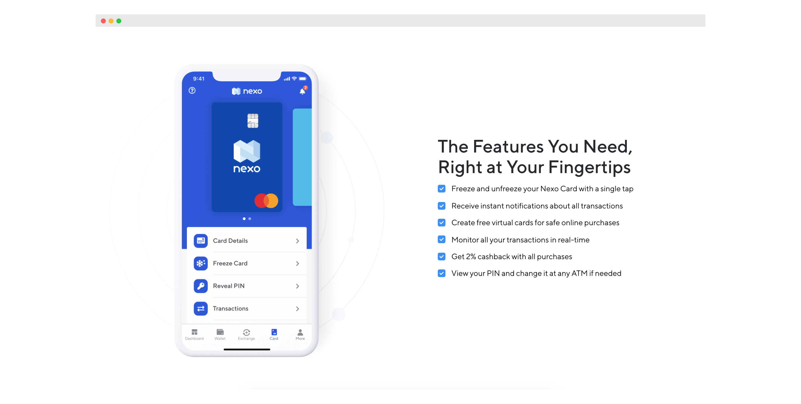 Nexo credit card