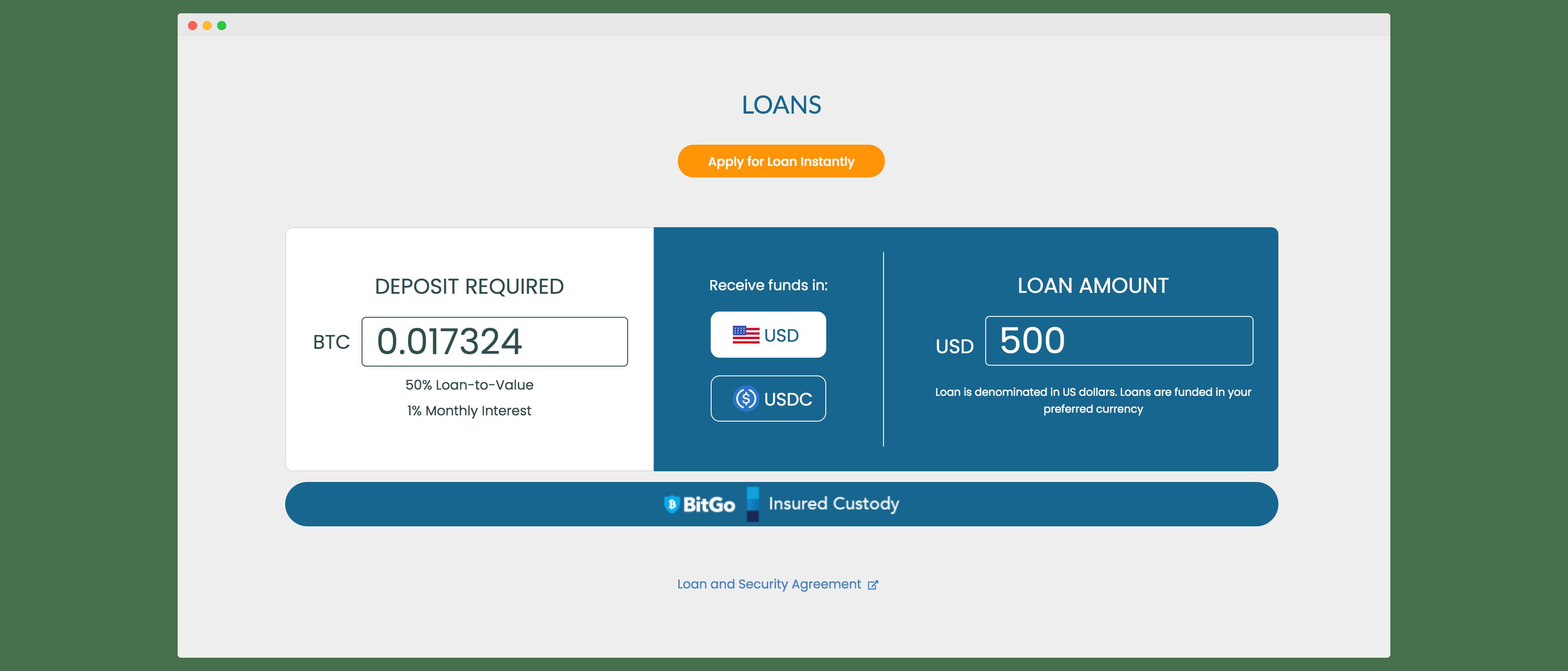 Ledn loan dashboard
