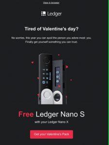 Ledger Nano S hardware wallet discount code